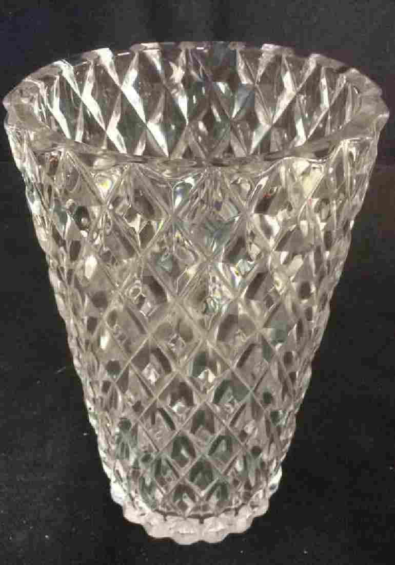 MVSL Cut Crystal Signed Vase