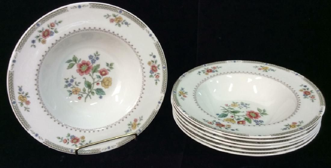 Set of 7 KINGSWOOD Decorated China Dinner Bowls