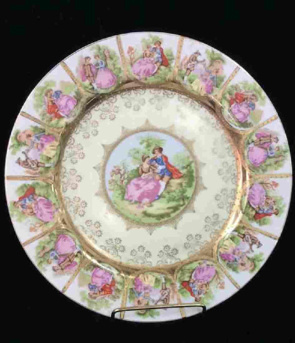 Lot 2 Porcelain Serving Plate and Saucer