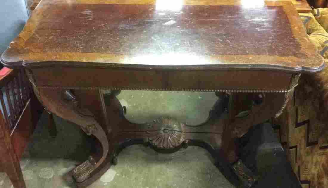 Antique Carved Wooden Console Pier Table