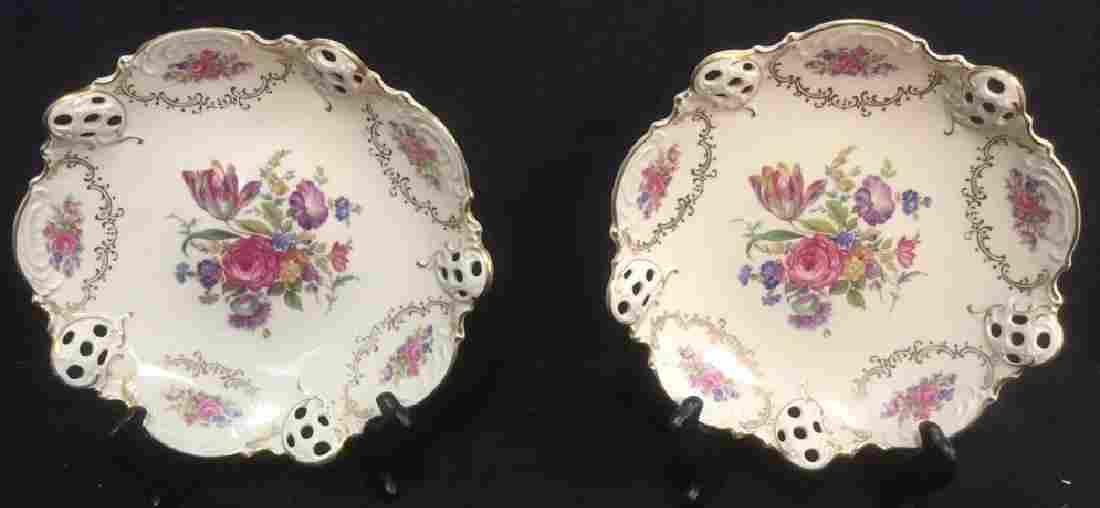 Pair of 20th Century Elfenbein Rosenthal Bowls