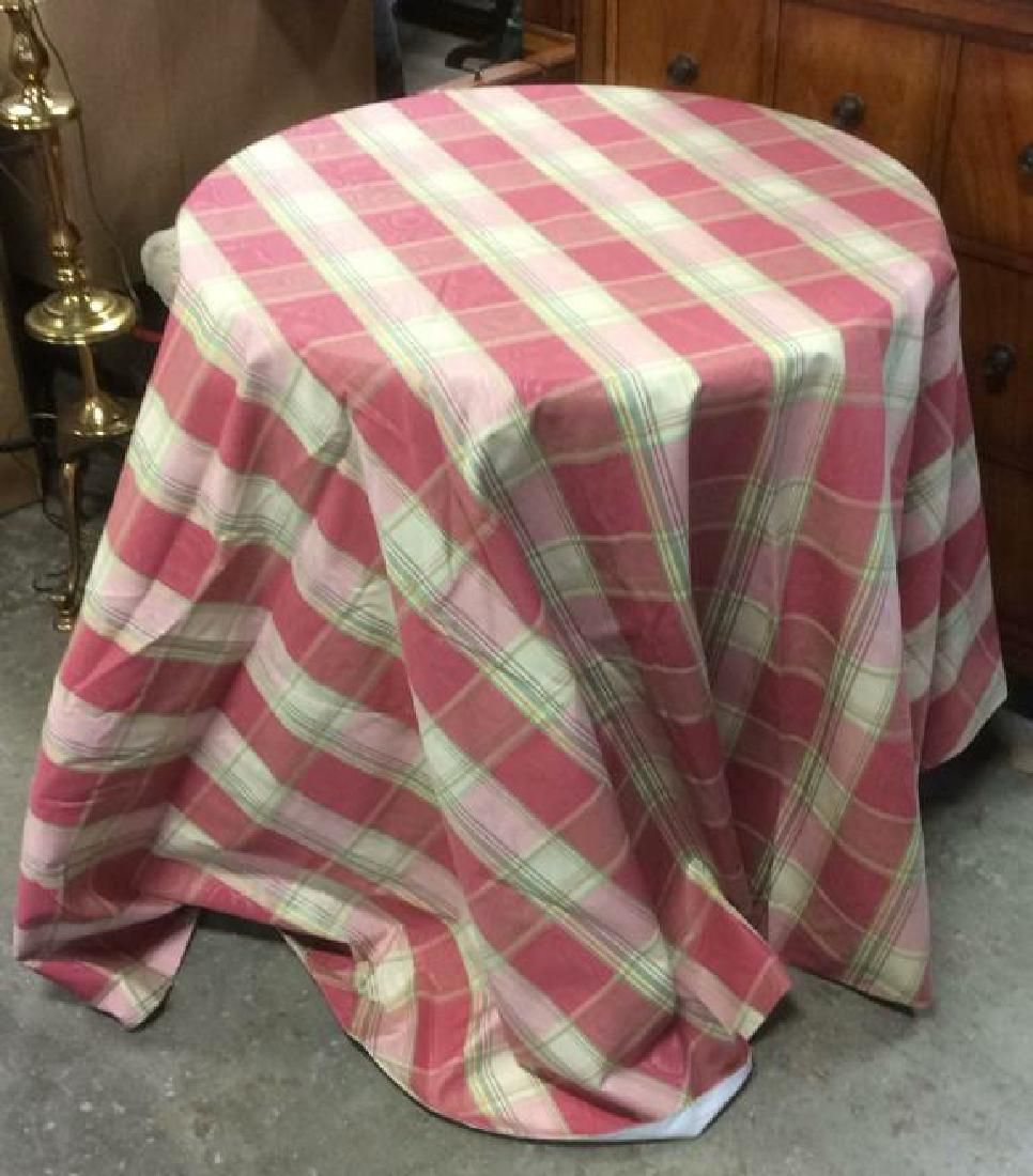 Fabric w Form Circular Skirted Table