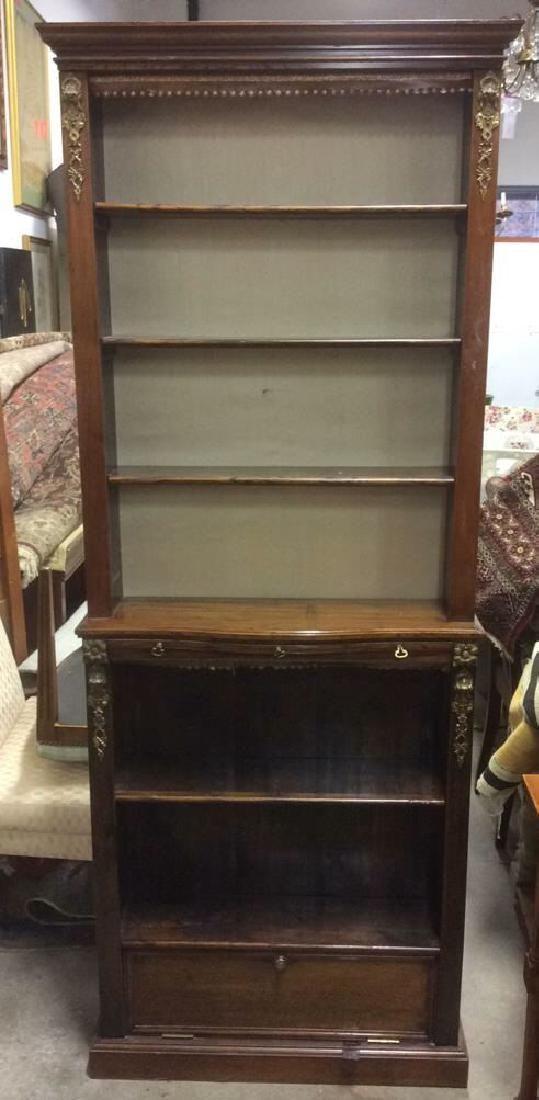 Antique Wood Collectors Display Case
