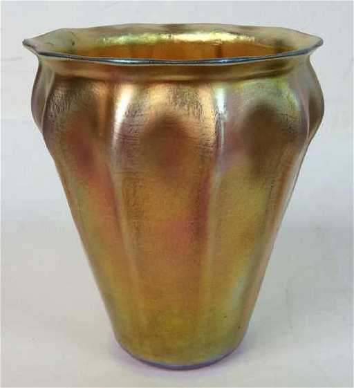 Signed Louis Comfort Tiffany Favrile Glass Vase