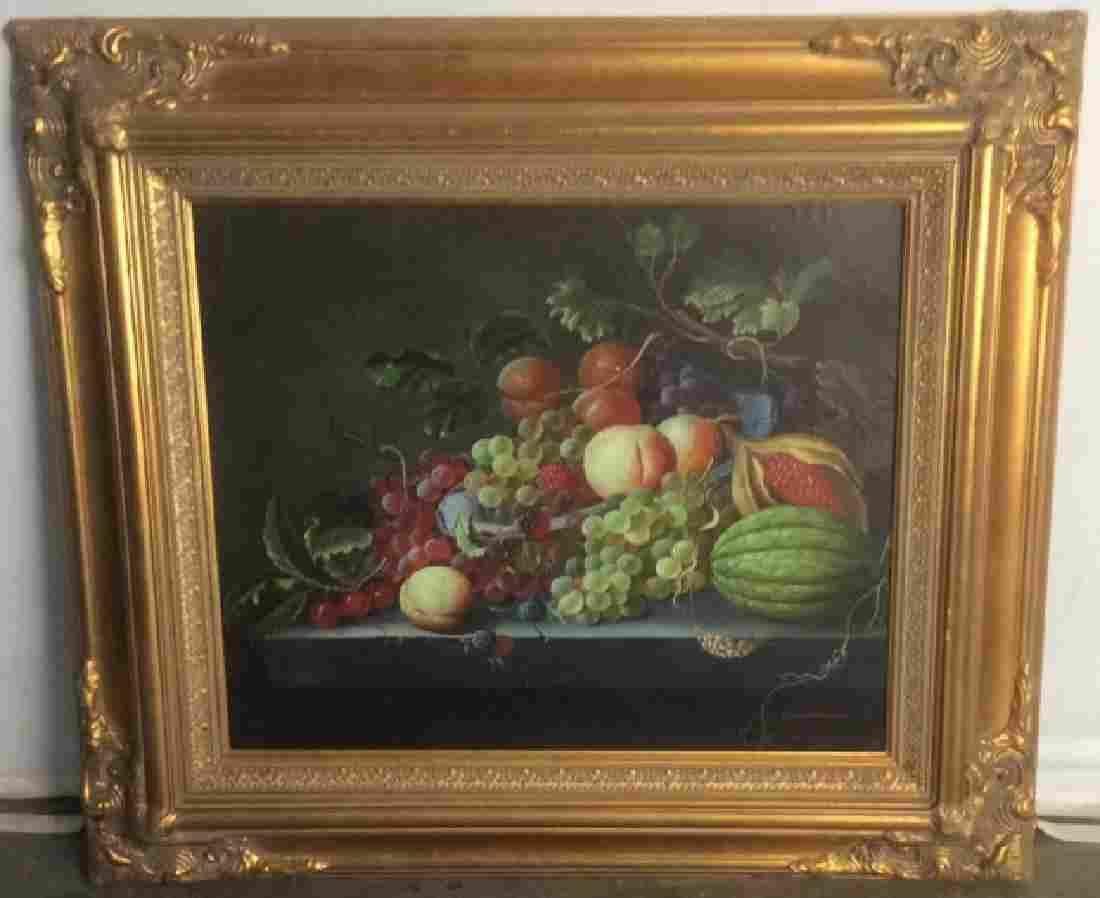 CAMERON Oil on Canvas Still Life Of Fruit