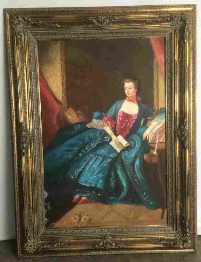 Lady In A Blue Dress Oil Painting