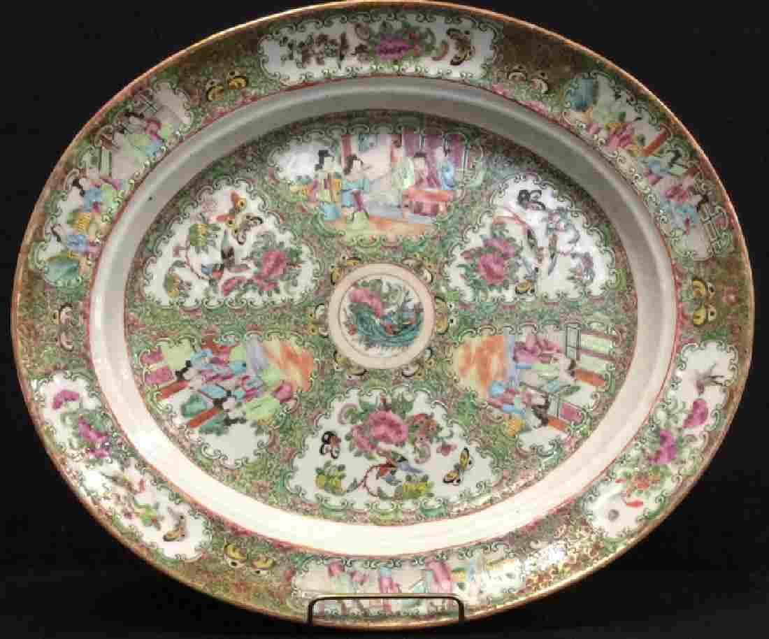 Antique Chinese Famile Rose Porcelain Platter