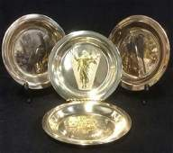 Lot 4 Sterling Silver Decorative Plates