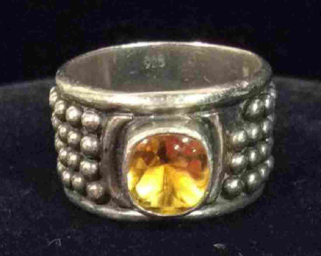 Sterling Silver W Citrine Gemstone Ring