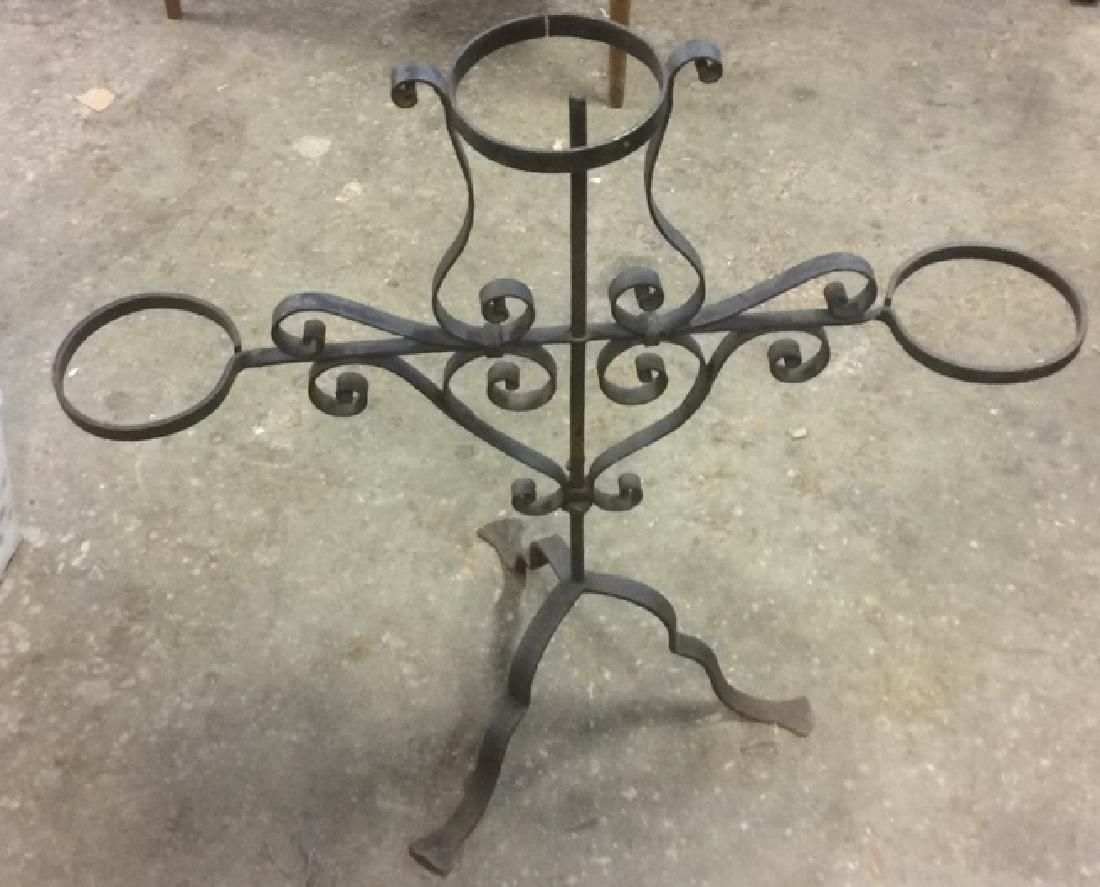Vintage Cast Iron Plant Holder Garden Ornament