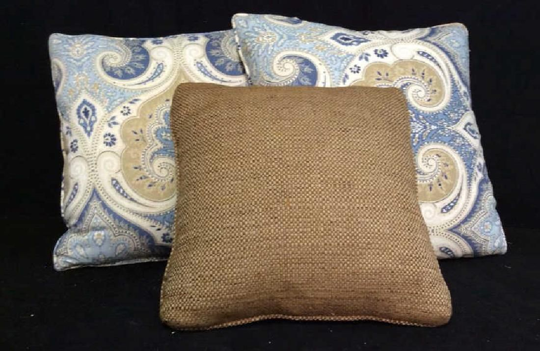 Lot 3 Decorative Upholstery Throw Pillows