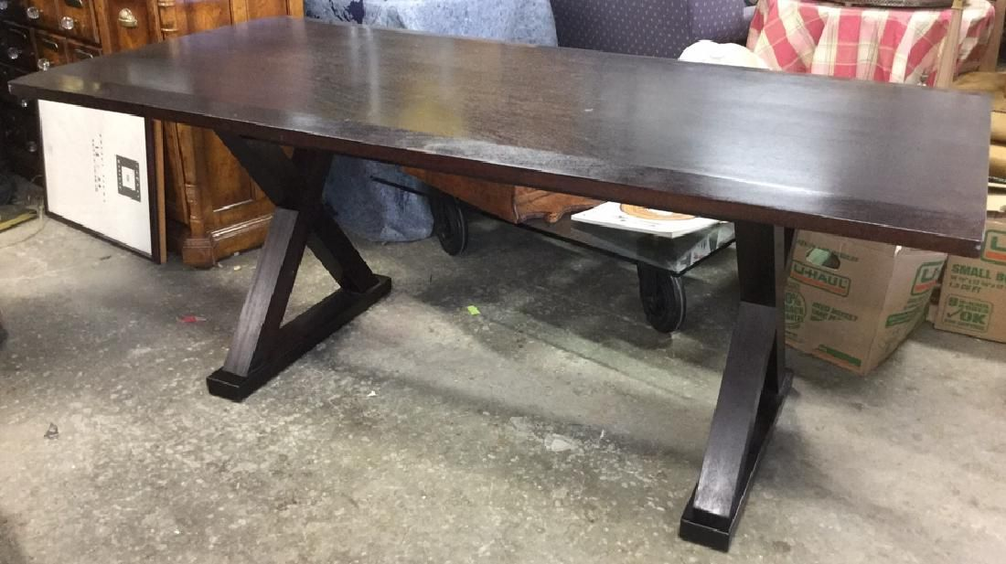 Contemporary X Based Wooden Dining Table Or Desk
