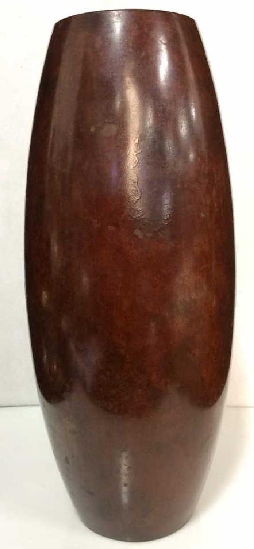 Japanese Warm Copper Toned Vase