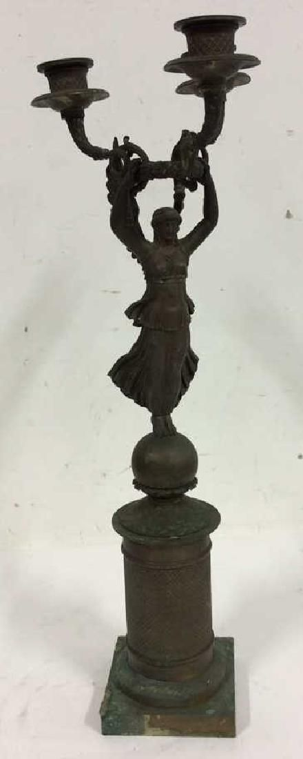 Bronze Angel Figure Sculpture Candelabra