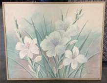 Signed Henderson Floral Still Life on Canvas
