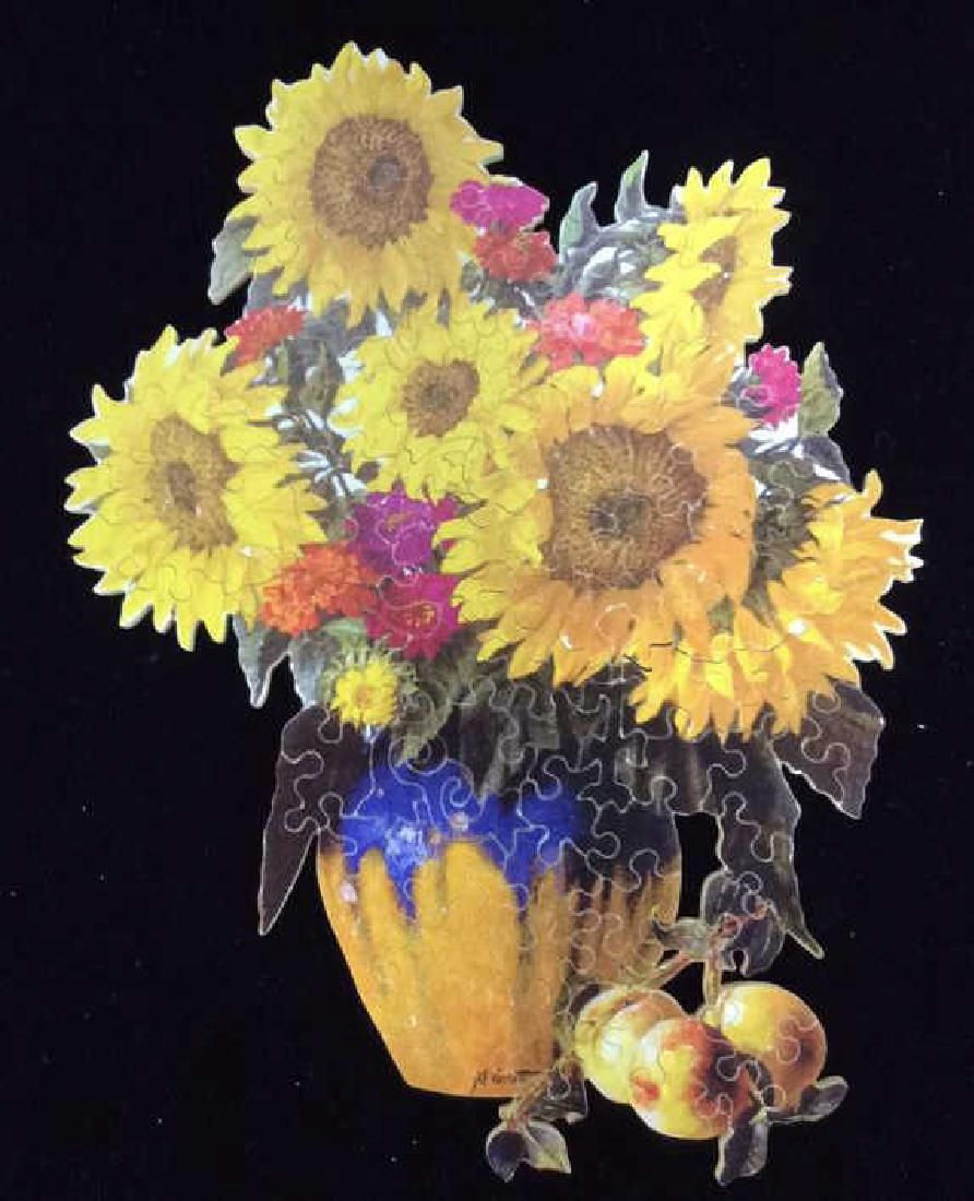 STAVE PUZZLES Sunflower Splendor Wooden Puzzle
