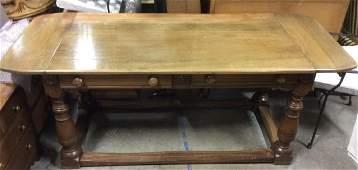 Carved Wood 2 Drawer Desk