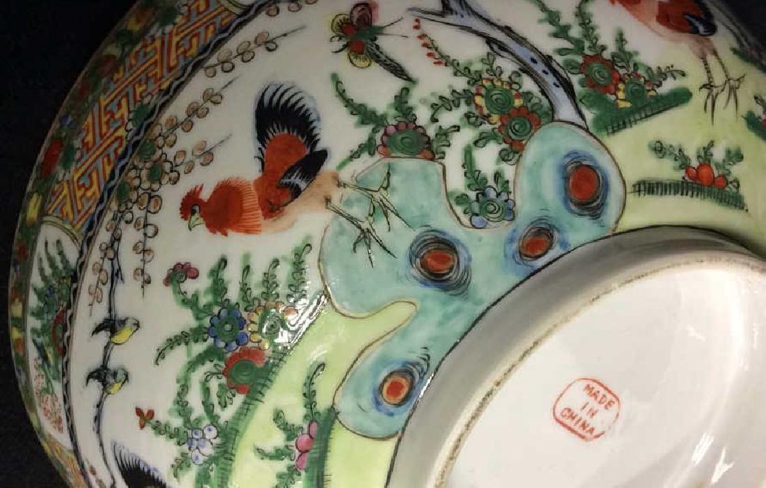 Set 4 Famille Rose Style Oriental Bowls