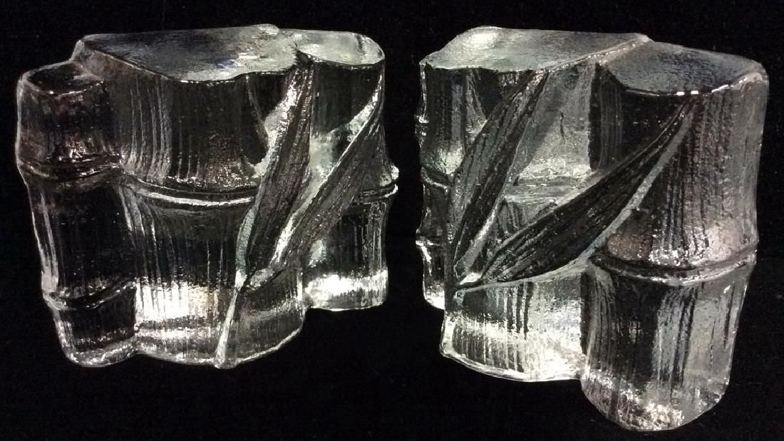 Lot 2 BLENKO Hollywood Regency Crystal Bookends