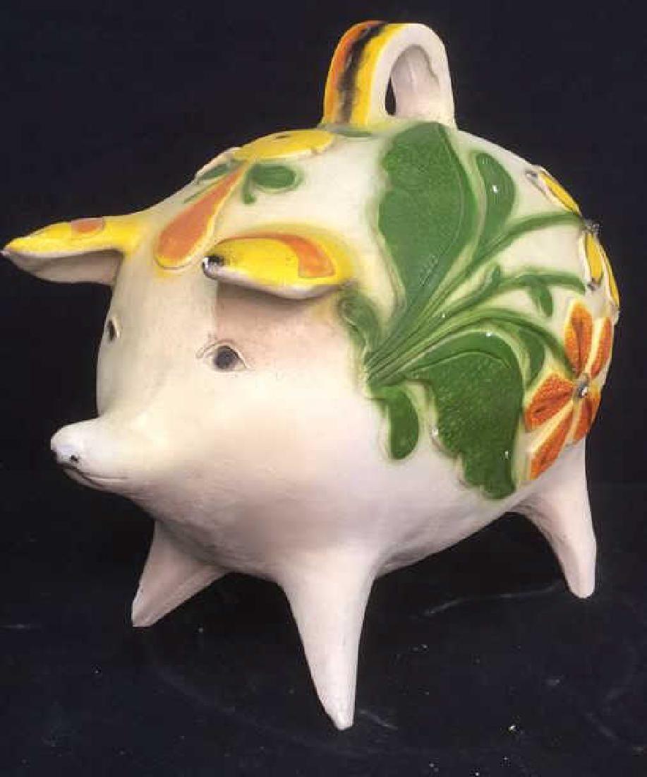 Ceramic Pig Figural Piggy Bank