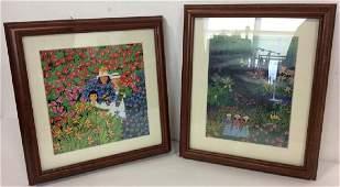 Pair Rosalie Prussing Folk Art Prints