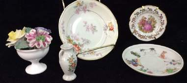 Assorted Floral Motif Tabletop Accessories
