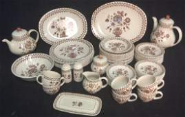 Set 71 English Staffordshire Old Granite Set