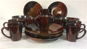 ELITE Glazed Pottery Dining Dining Set