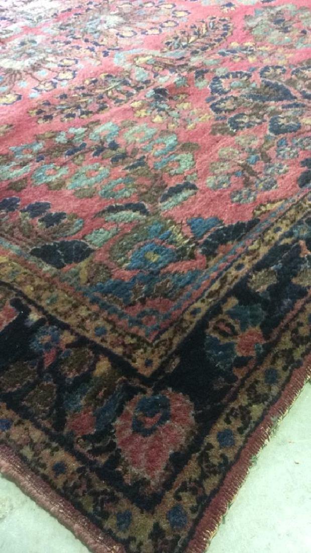Vintage Persian Sarouk Carpet Rug - 8