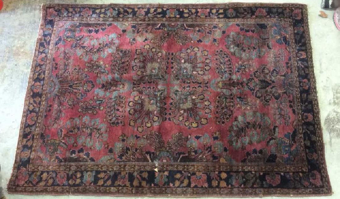 Vintage Persian Sarouk Carpet Rug - 9