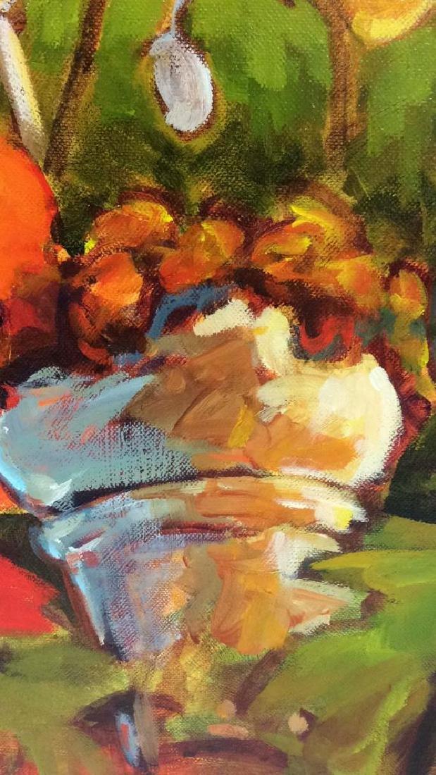 Signed GAIL JOHNSON ICELANDIC POPPIES Painting - 10