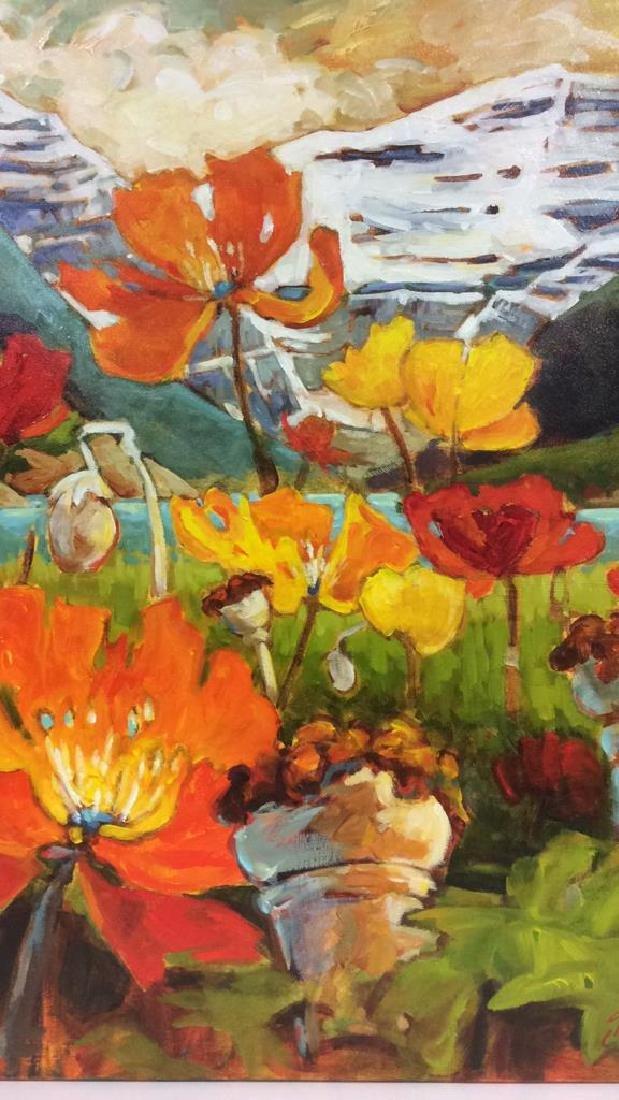 Signed GAIL JOHNSON ICELANDIC POPPIES Painting - 3