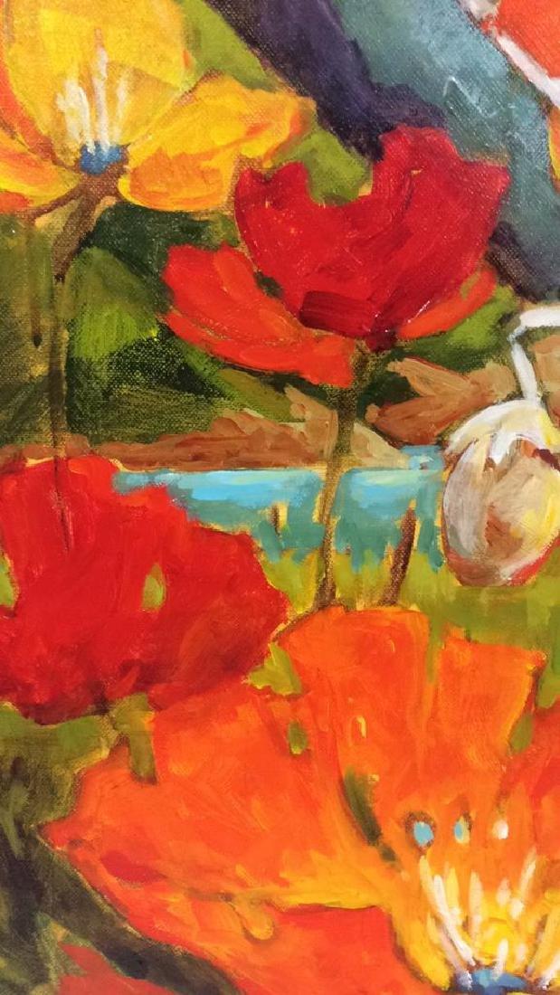 Signed GAIL JOHNSON ICELANDIC POPPIES Painting - 4