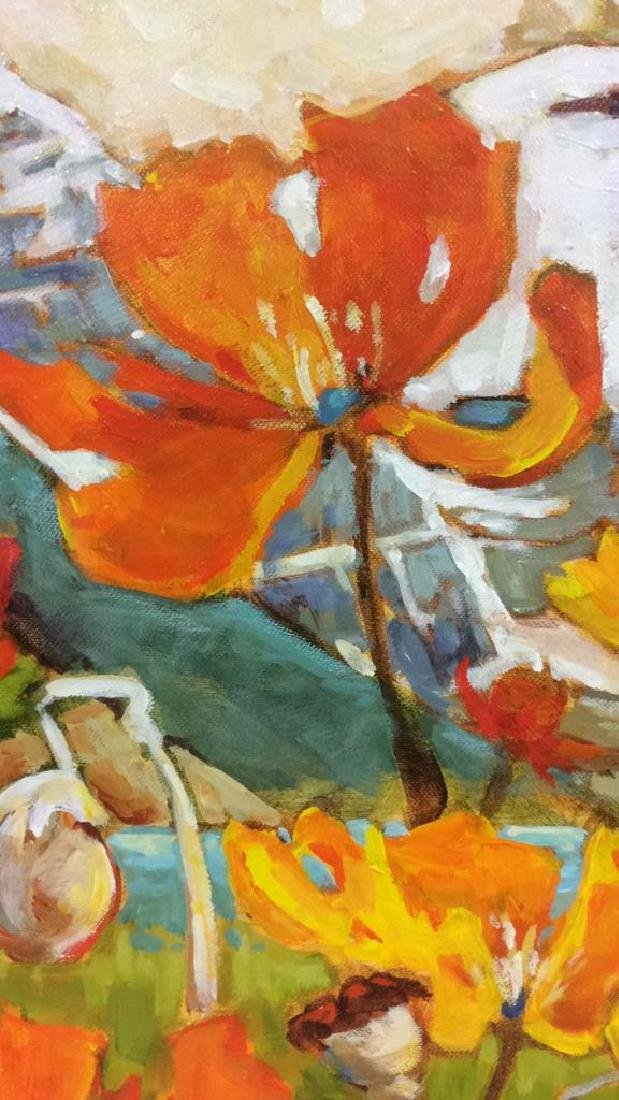 Signed GAIL JOHNSON ICELANDIC POPPIES Painting - 5