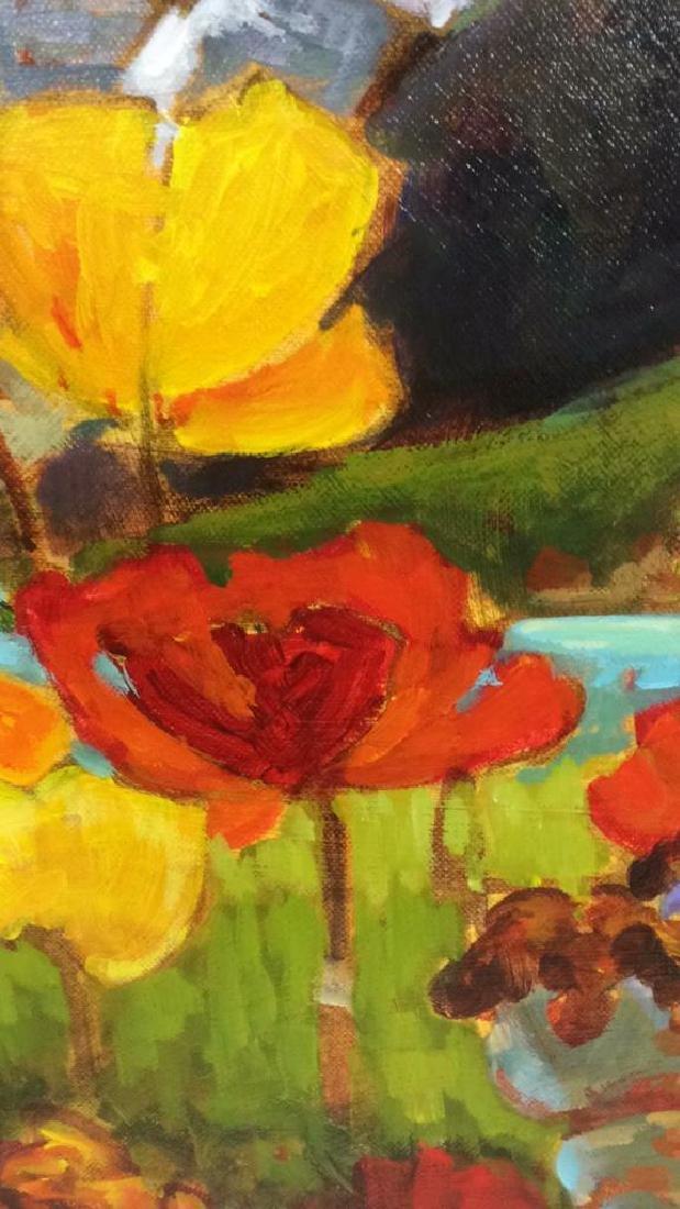 Signed GAIL JOHNSON ICELANDIC POPPIES Painting - 6