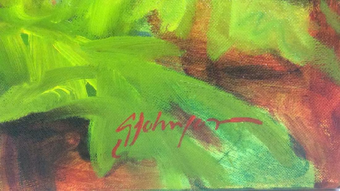 Signed GAIL JOHNSON ICELANDIC POPPIES Painting - 8