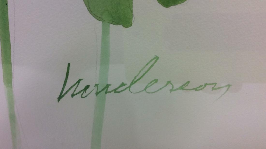 HENDERSON Framed Floral Water Color On Paper - 10