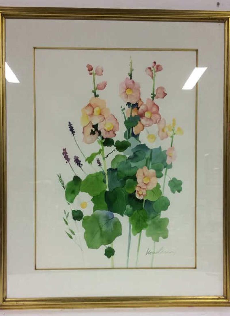 HENDERSON Framed Floral Water Color On Paper - 2