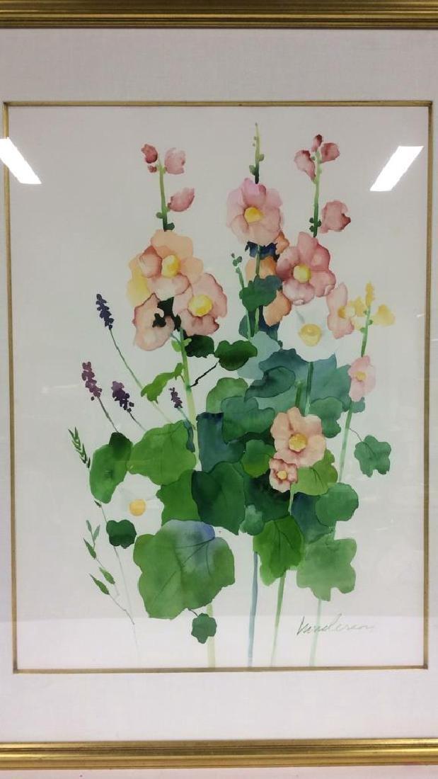HENDERSON Framed Floral Water Color On Paper - 3