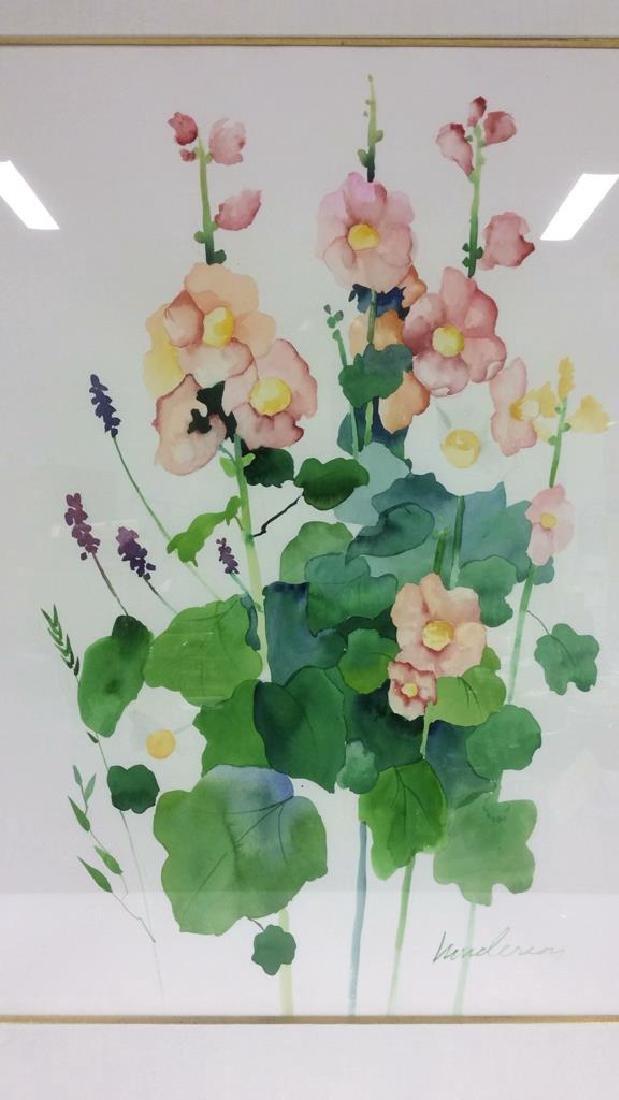 HENDERSON Framed Floral Water Color On Paper - 4
