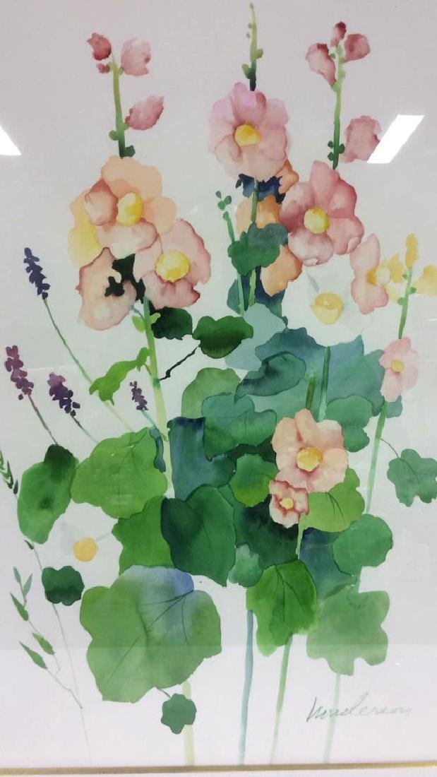 HENDERSON Framed Floral Water Color On Paper - 5