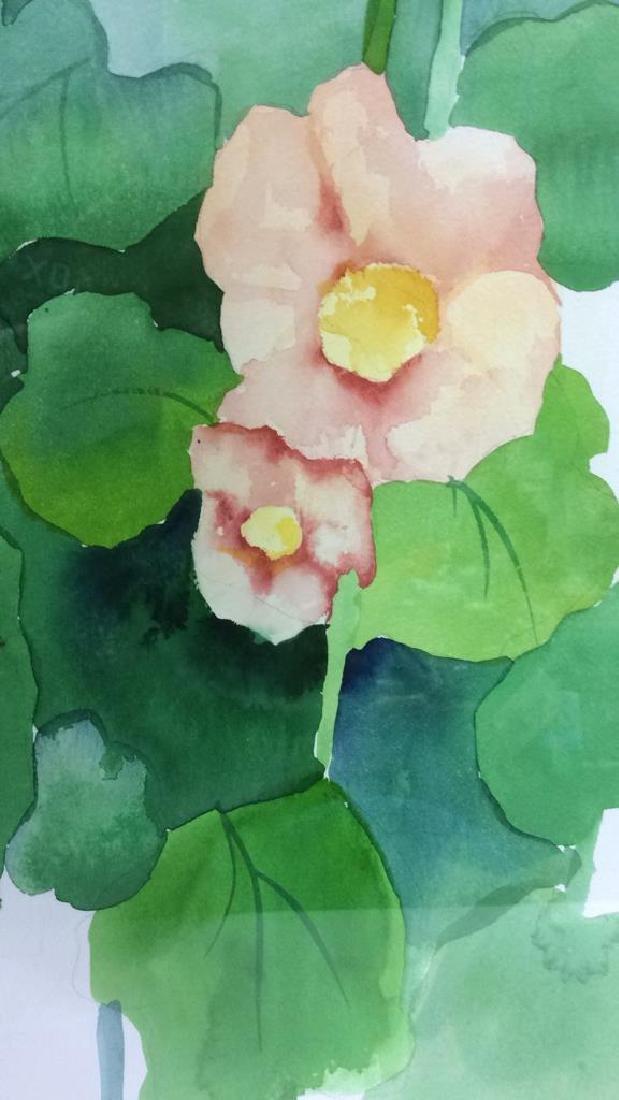 HENDERSON Framed Floral Water Color On Paper - 6