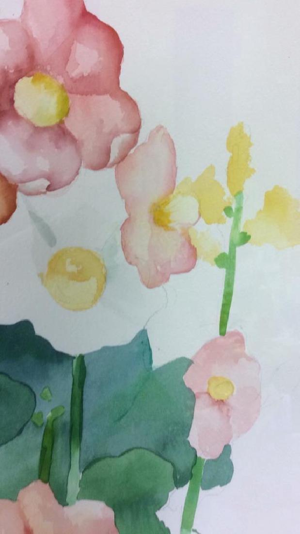HENDERSON Framed Floral Water Color On Paper - 7