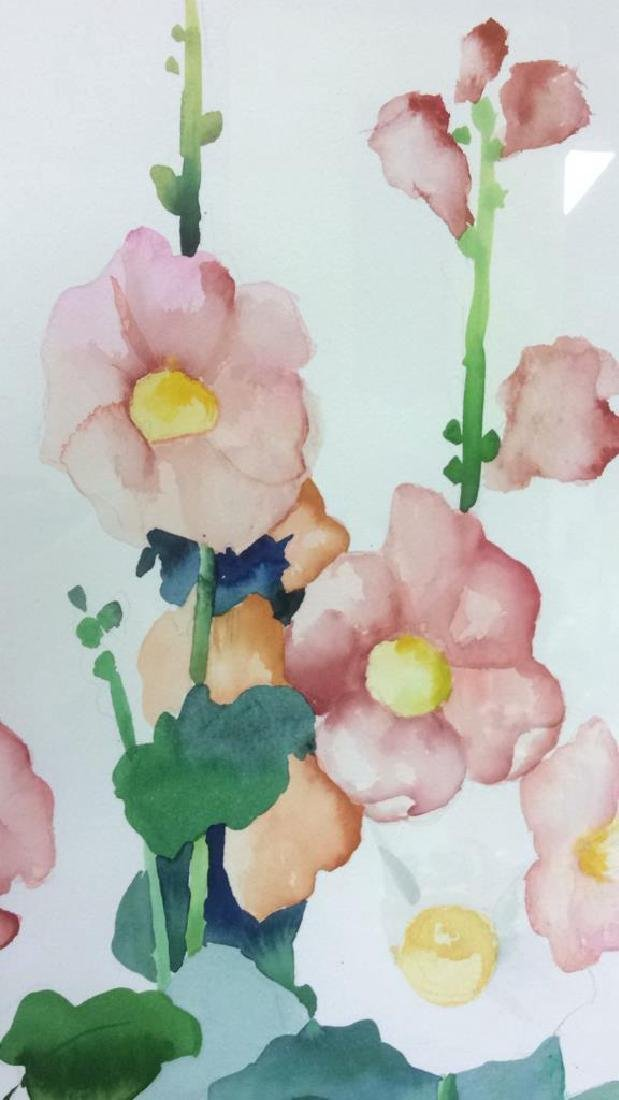 HENDERSON Framed Floral Water Color On Paper - 8