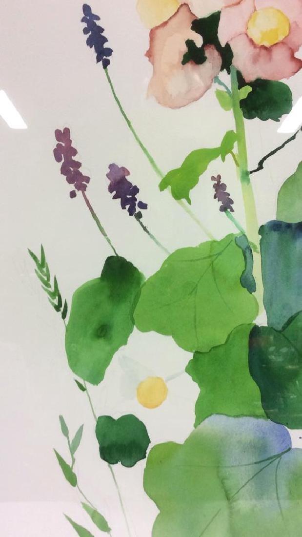 HENDERSON Framed Floral Water Color On Paper - 9
