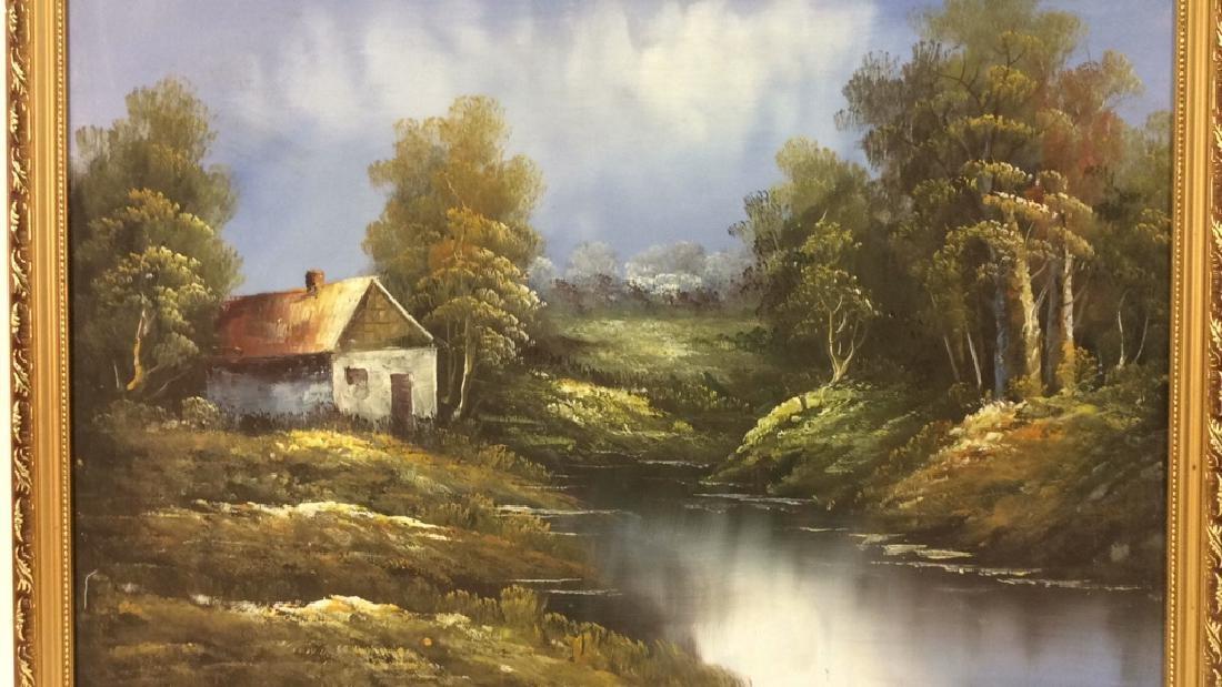 Framed Landscape Acrylic On Canvas - 3