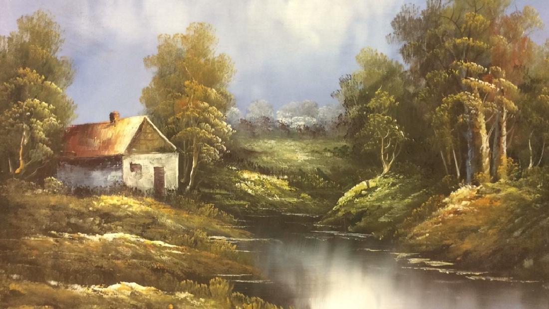 Framed Landscape Acrylic On Canvas - 4