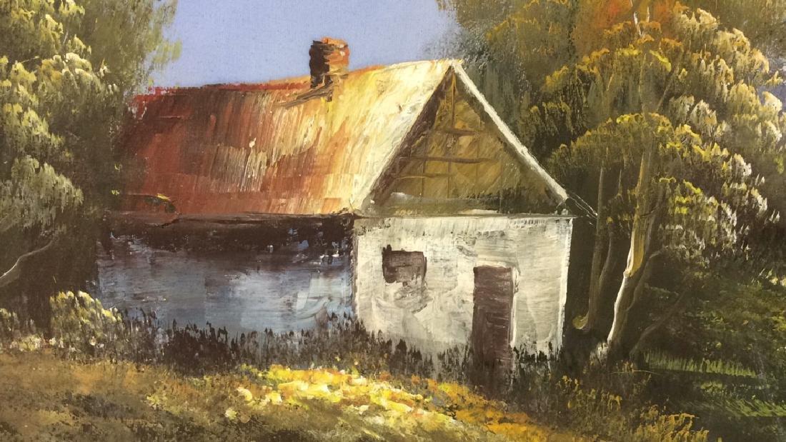 Framed Landscape Acrylic On Canvas - 5