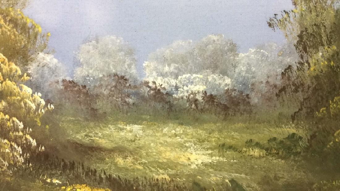 Framed Landscape Acrylic On Canvas - 6