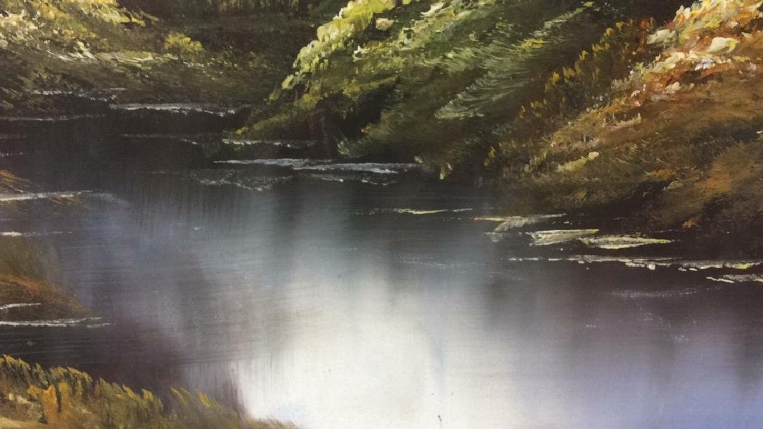 Framed Landscape Acrylic On Canvas - 7